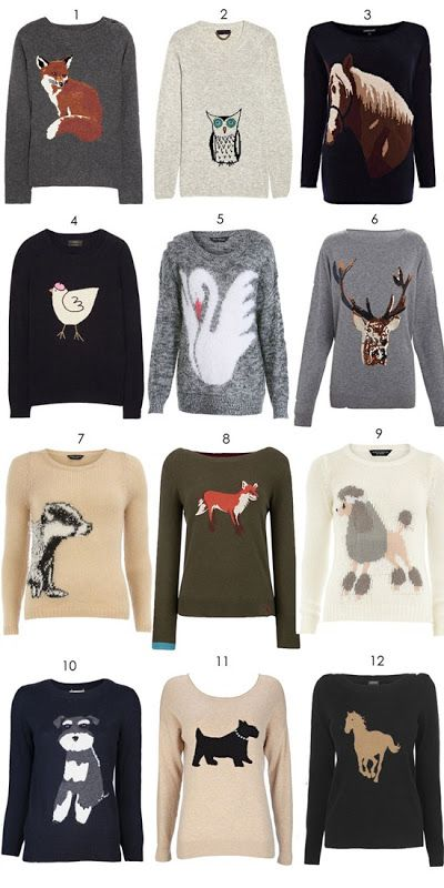 animal motif jumpers
