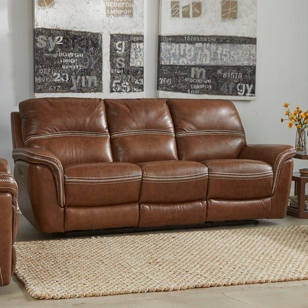 Mason Leather Reclining Sofa With Power Headrest And Lumbar Support 40 Inches High X 90 Inches Wide X 40 Inches Deep Leather Reclining Sofa Sofa Clearance Leather Sofa Living Room