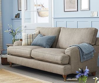 Sofia Large Sofa (3 Seats) Natural Blend Dark Natural Castor-Light | Next