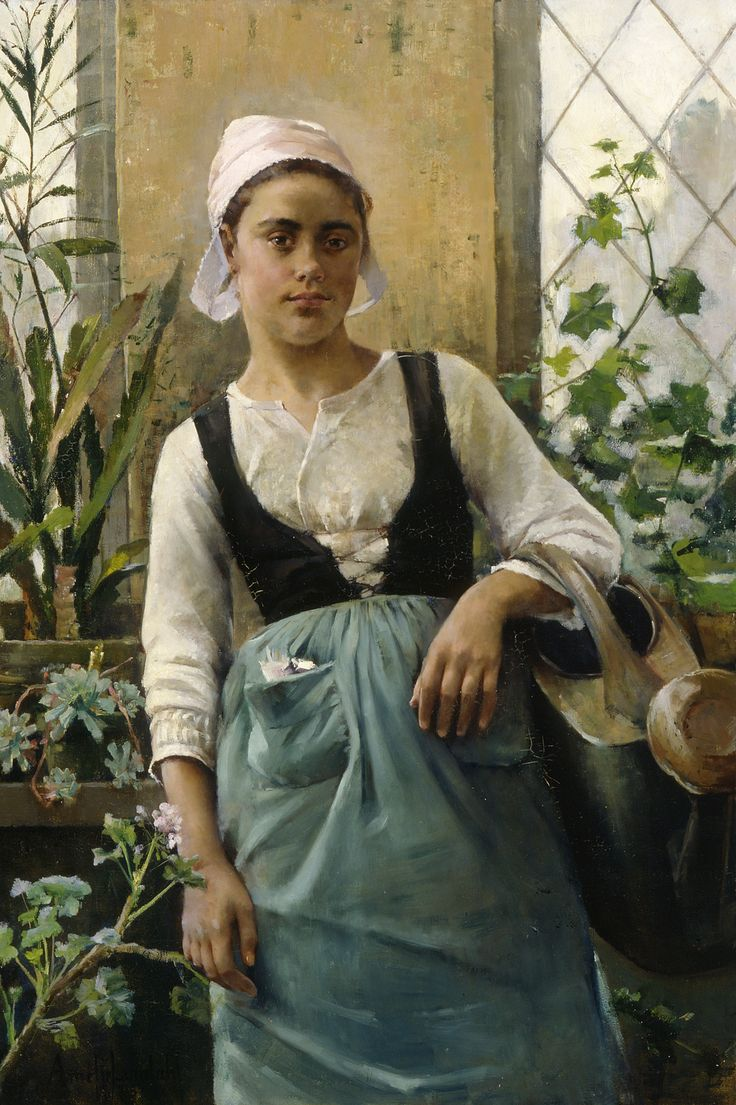 Amélie Helga Lundahl The Garden Girl (1885), Atemeum Art Museum, Helsinki