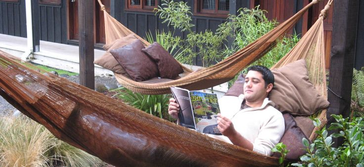 Enjoying the hammocks at The Park Hotel