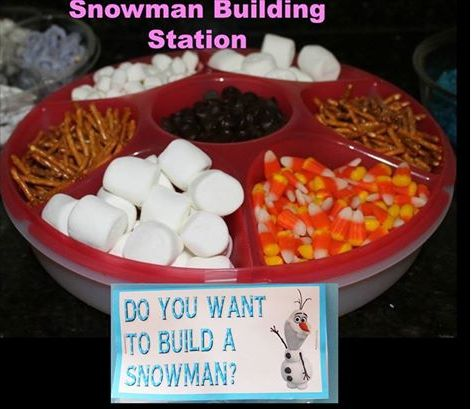 Snowman Building Station  Yet another reason to have the Serving Center by Tupperware from my site www.kat1126.my.tupperware.com  Inspiration CAN be found EVERYWHERE!