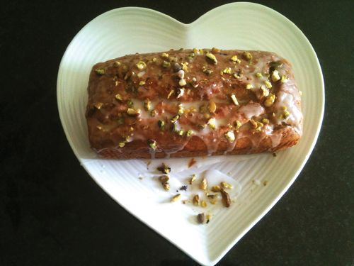 Banana loaf with pistachio and icing topping : Bingley Rural Magazine