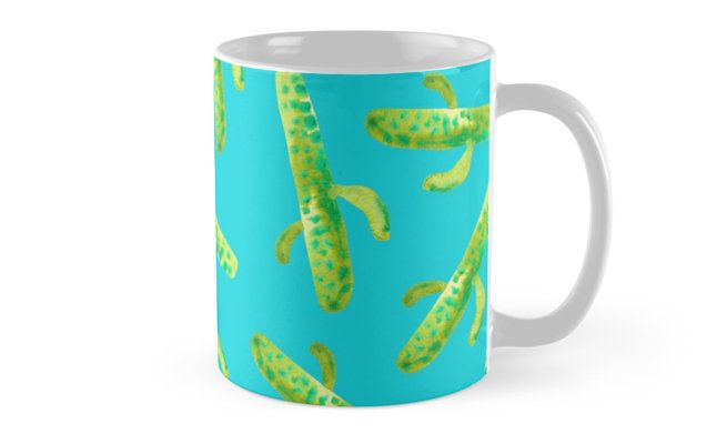 watercolor Cacti on blue. Summer inspired pattern. • Also buy this artwork on home decor, apparel, stickers, and more. @redbubble Watercolor Cacti on blue. Cactus pattern inspired by nature and summer #cacti #cactus #summer #blue #botanical #plant #pattern #green #blue #summer #design #art #decor #fashion #trend #Coffee #mug