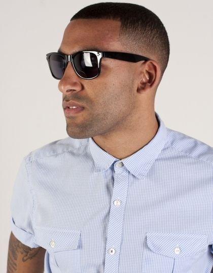 Mens Sunglasses - Black Wayfarers by Pipel - StyleSays