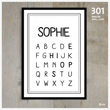 Poster meisjesnaam 301