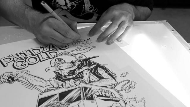 (VIDEO) Time lapse Ink drawing of GSV x PG collab (for more info check out phidiasgold.com)