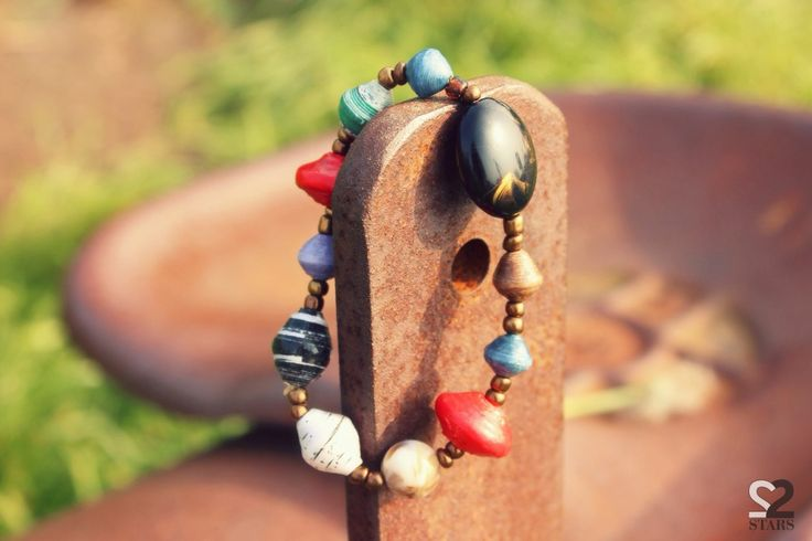 Shop now the Oni Bracelet from 22STARS! handmade from recycled paper in Uganda!!