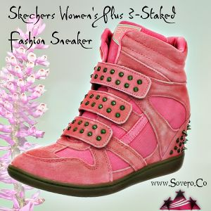 Skechers Women's Plus 3 — Staked Fashion Sneaker Available @ http://www.sovero.co/product/skechers-womens-plus-3-staked-fashion-sneaker Prices ranging from $66.65 - $85.99 #WomansStuddedSneakers #WomansSneakers #WomansFashion #Sovero