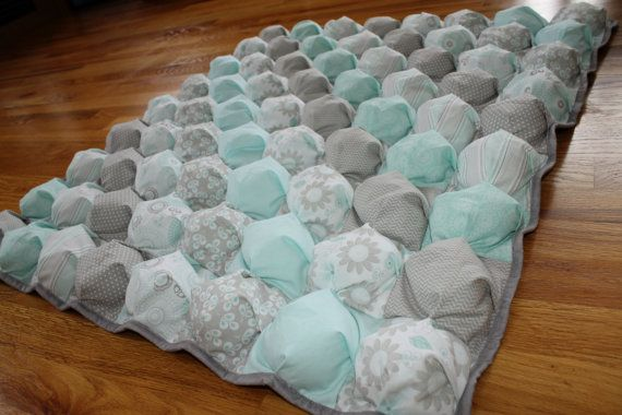 Bubble Blanket  Puff Blanket  Biscuit Quilt  by AwaitingAda, $160.00