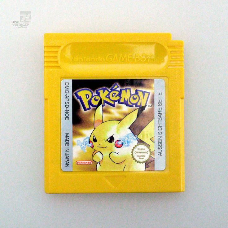Nintendo Gameboy POKEMON Gelb Jaune - cyan74.com vintage & pop culture