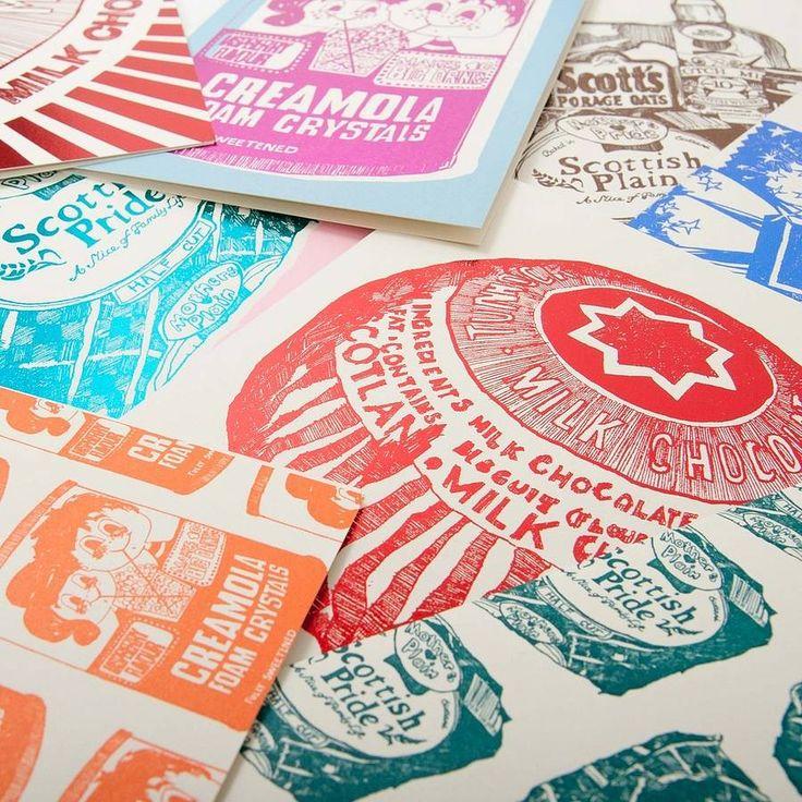 sets of four gillian kyle foil-print cards by gillian kyle | notonthehighstreet.com