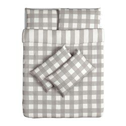 EMMIE RUTA Quilt cover and 4 pillowcases - 200x200/50x80 cm - IKEA