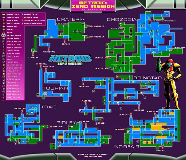 Metroid map                                                       …