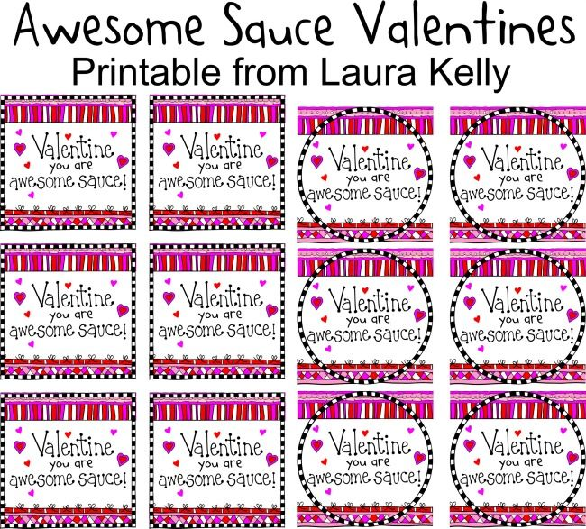 Awesome Sauce Valentine Printable Laura Kelly