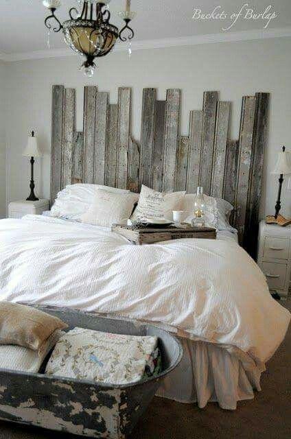 Rustikale Schlafzimmer, Master Schlafzimmer, Scheune Holz Kopfteil,  Rustikalen Kopfteile, Murphy Betten, Bastelideen, Deco Haus, Bett, Tricks