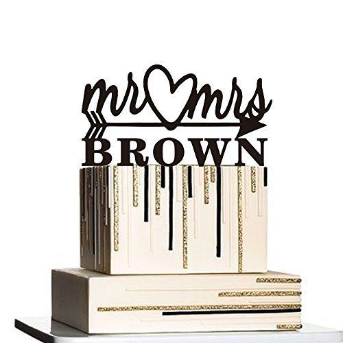 "Mr and Mrs Silhouette Personalized Custom with Your Last Name. Welcome to my shop!Wonderful cake topper for your celebration party! I make cake topper for weddings, birthday, anniversary and all events. If you have any questions or needs just feel free to tell me. I will try my best to meet your needs. MATERIAL :It Made With High Quality Acrylic\Wood and Safe For Cake. SIZE :Approx 5""~6"".The Height depends on the topper style. SHIPPING :It takes approx 2 to 3 weeks to arrive at you for…"