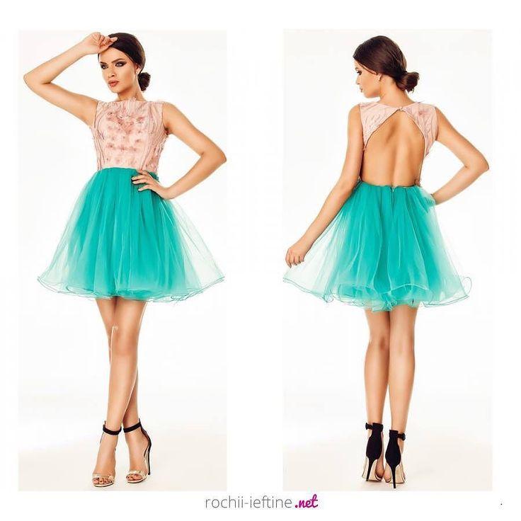 Rochie Selena Turquoise Pret: 299.00 Lei - https://goo.gl/ppFi3z #rochiedeseara #rochiiieftine #rochie