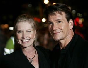 Patrick Swayze obit: Patrick Swayze with his wife Lisa Niemi at Keeping Mum premiere