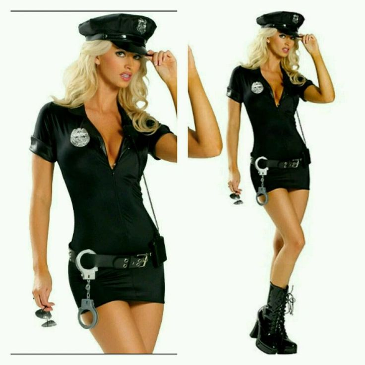 Sexy Halloween Costumes For Women Police Cosplay Costume Dress Cop Uniform S-2X