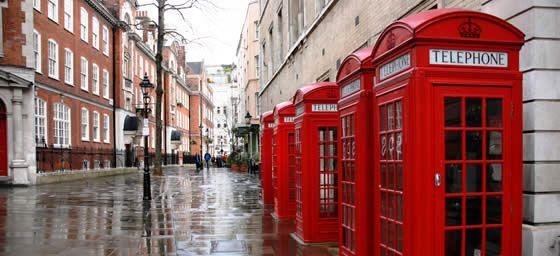 Iconic London phoneboxes