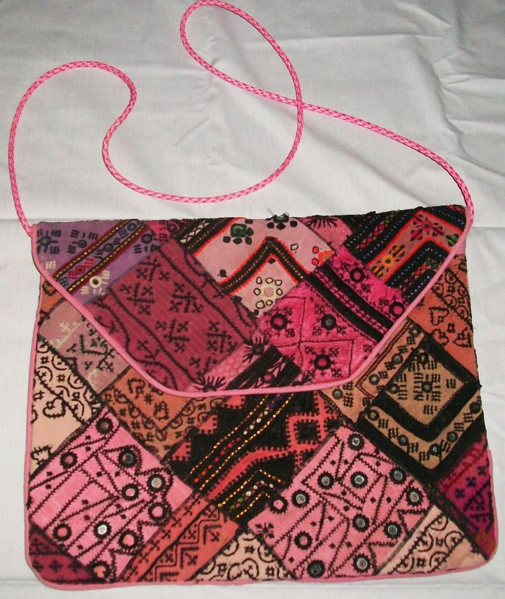 INDIAN VINTAGE BANJARA CLUTCH EMBROIDERY BOHO ETHNIC PURSE HANDMADE TRIBAL B #Handmade #Clutch