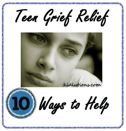 Teen grief relief--this is good to keep in mind for struggling students in your youth group.