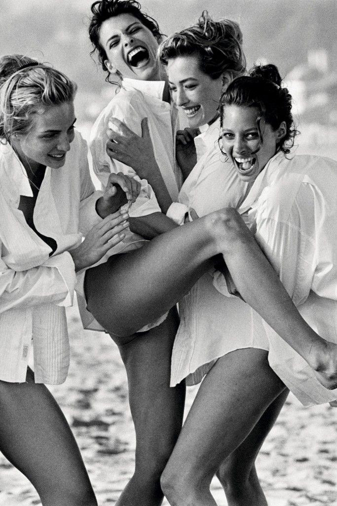 The Glamazons: Rachel Williams, Linda Evangelista, Tatjana Patitz and Christy…