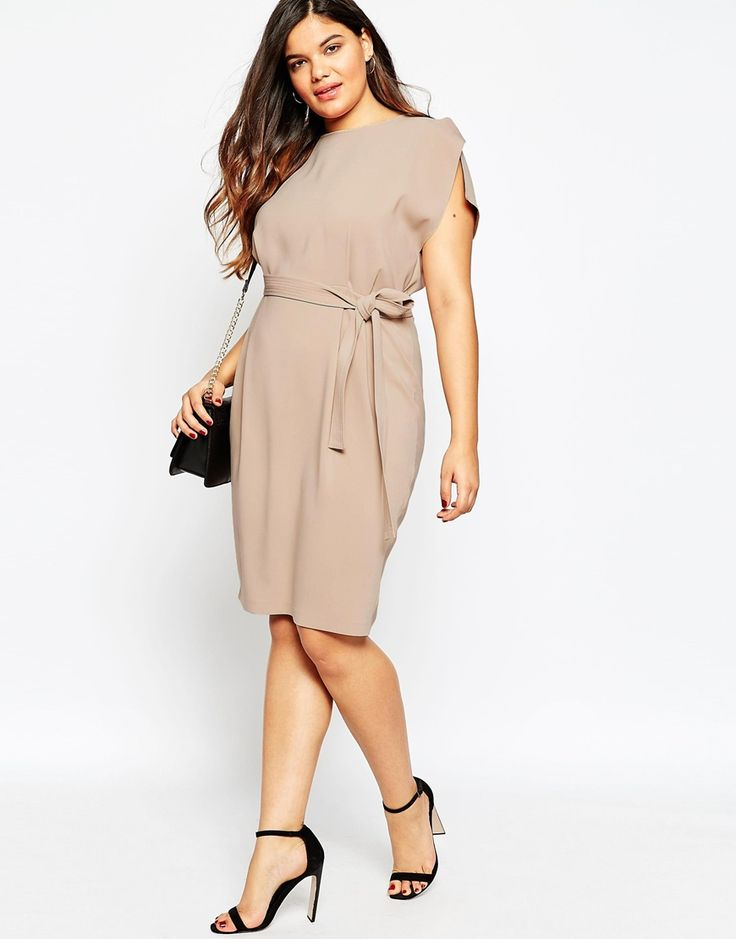 Image 4 of ASOS CURVE Belted Midi Dress  Explore our amazing collection of plus size fashion styles and clothing. http://wholesaleplussize.clothing/