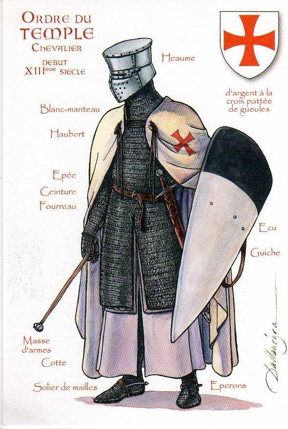Knights Templar, knight with mace | by ourpostcards