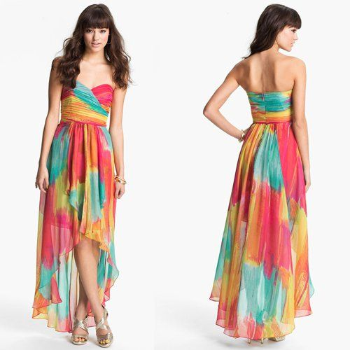 Maxi dress bahan chiffon