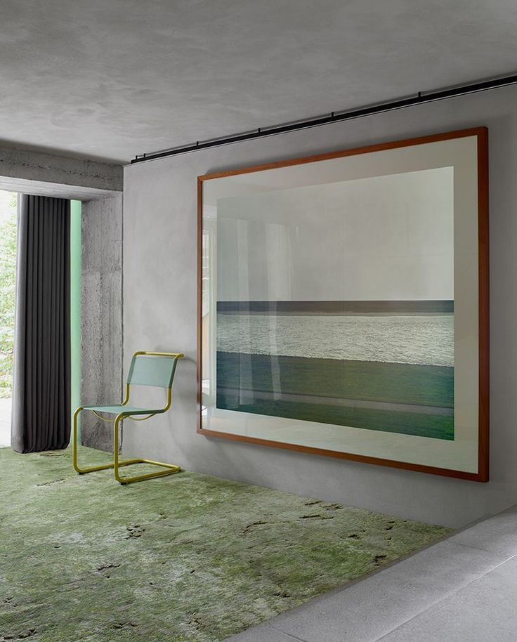 Oversize Art In The Hallway