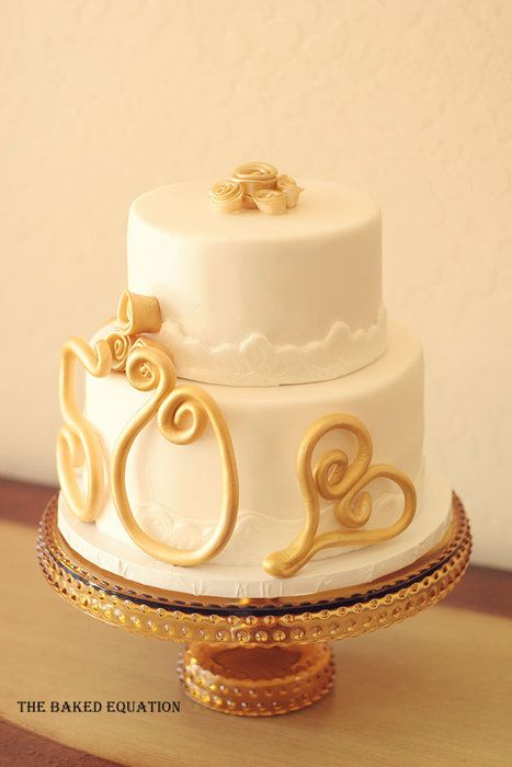 17 Best 1000 images about 50th wedding anniversary cake on Pinterest
