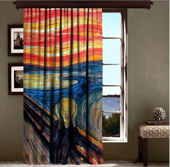 Edvard Munch Scream Curtain Decorative Curtain Curtain