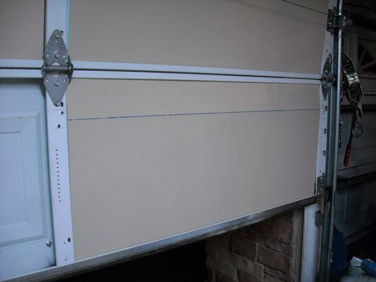 DIY Garage Door Insulation -- Reminder that this is a great idea for our winters, and probably summers too.