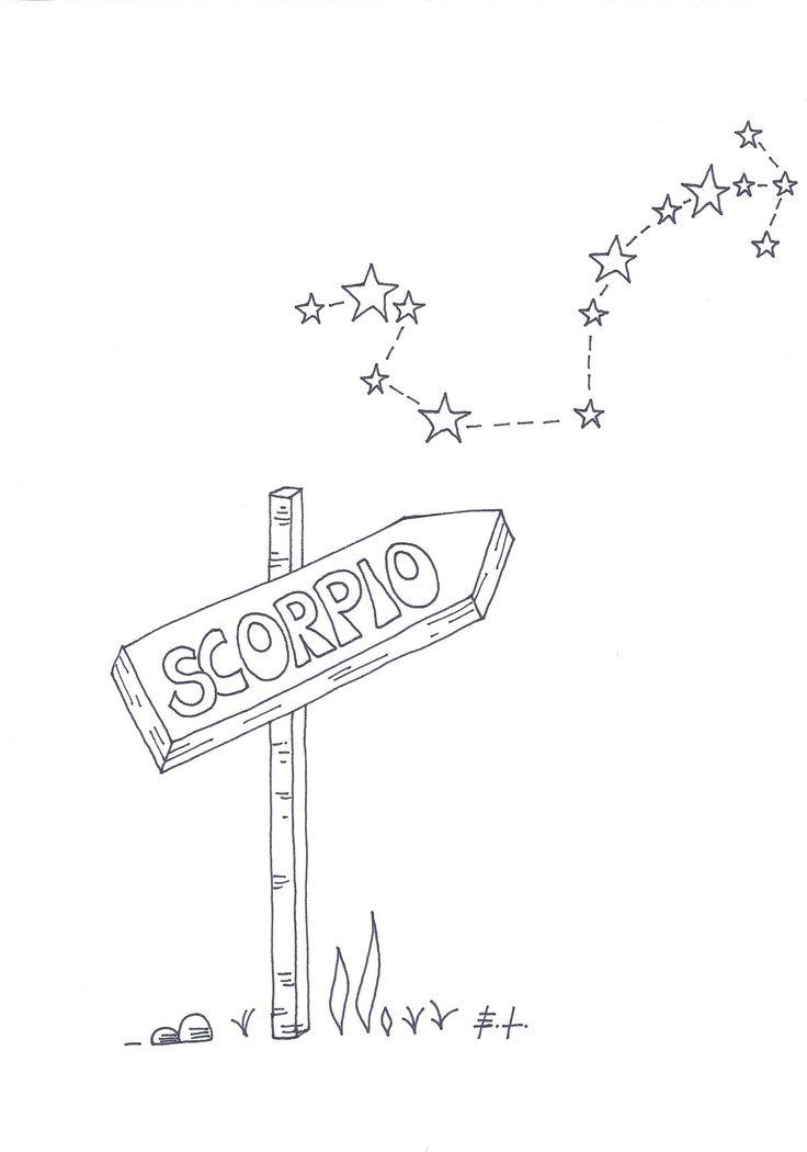 Scorpio, segno zodiacale Scorpione, poster stampabile, stampa d'arte, download istantaneo, scarica e stampa, astrologia, costellazioni di ELdesignArt su Etsy