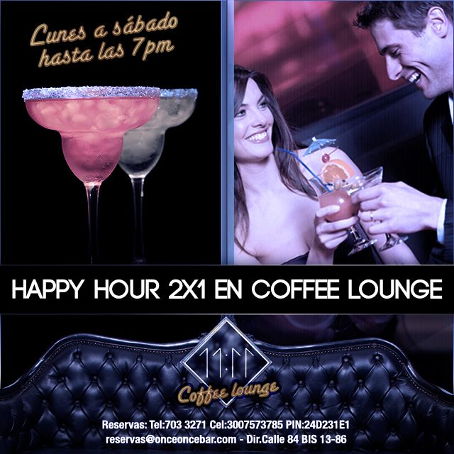 Happy Hour 2x1 en coffee lounge
