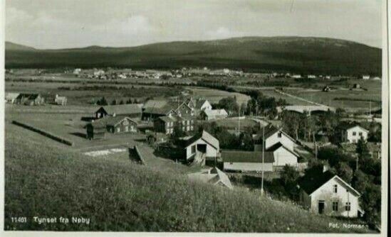 Tynset i Hedmark fylke fra Neby 1950-tallet Foto Normann