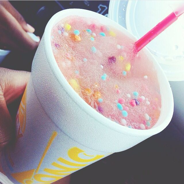 Cotton candy nerd slushie