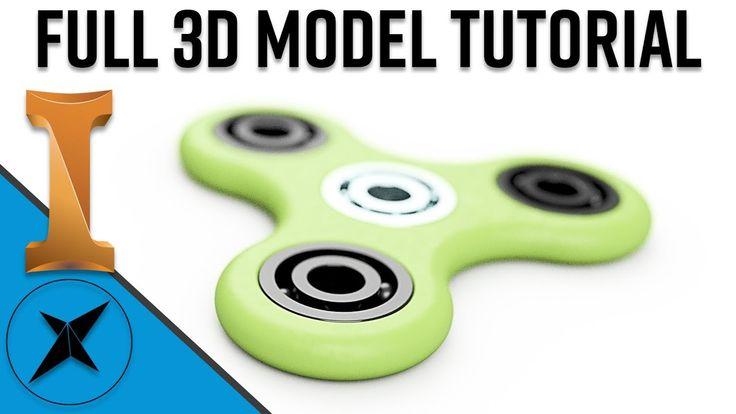 Fidget Spinner 3D Model Full Tutorial | Autodesk Inventor