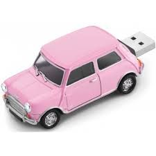 MINI COOPER USB DRIVE PINK wow