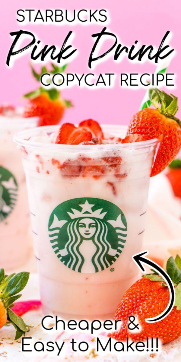 Starbucks Copycat Pink Drink In 2020 Pink Drink Recipes Starbucks Pink Drink Recipe Starbucks Drinks Recipes