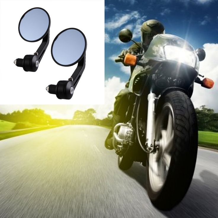 Only US $14.87 Hot Sale Motorcycle Mirror Aluminum Rear view Mirror End Motor Mirror Motorcycle Accessories 22mm