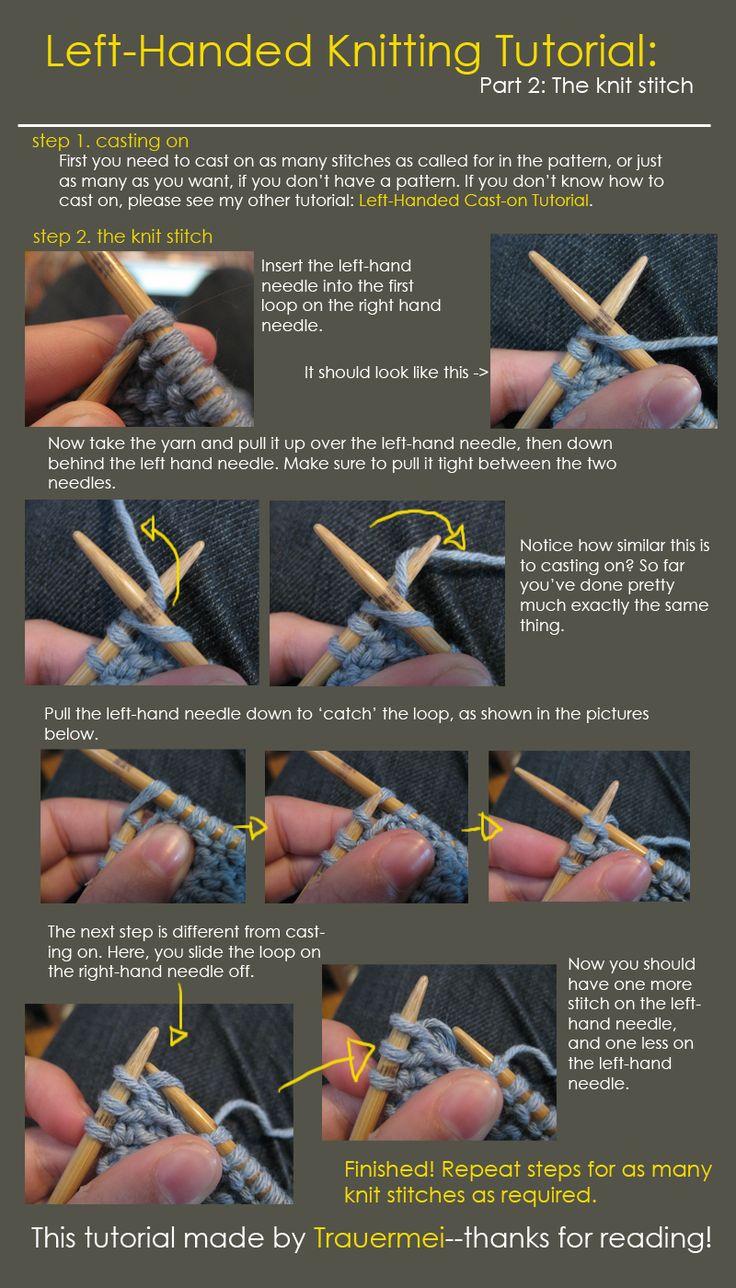 Left-Handed People | Left-Handed Knitting Tutorial by ~Trauermei on deviantART