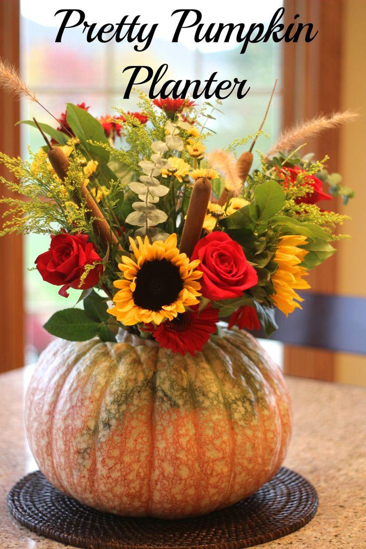 A pretty pumpkin planter. So wonderfully seasonal right now!