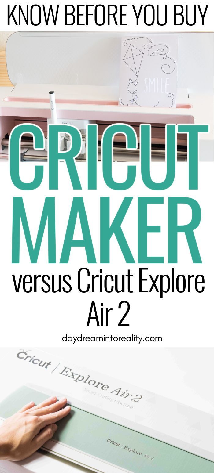 Cricut Maker vs Cricut Explore Air 2 Differences to know