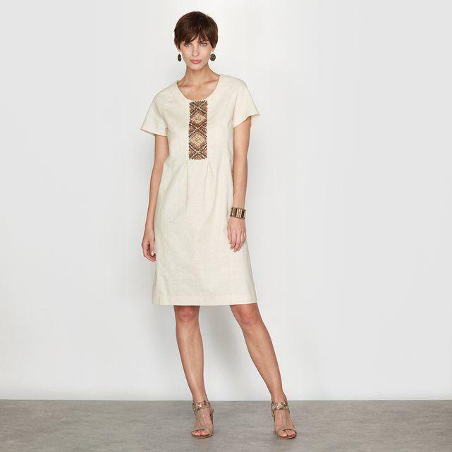 image Vestido con pedrería, mayoritariamente de lino ANNE WEYBURN
