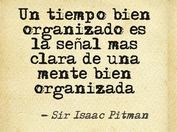Sin organización, no hay éxito.