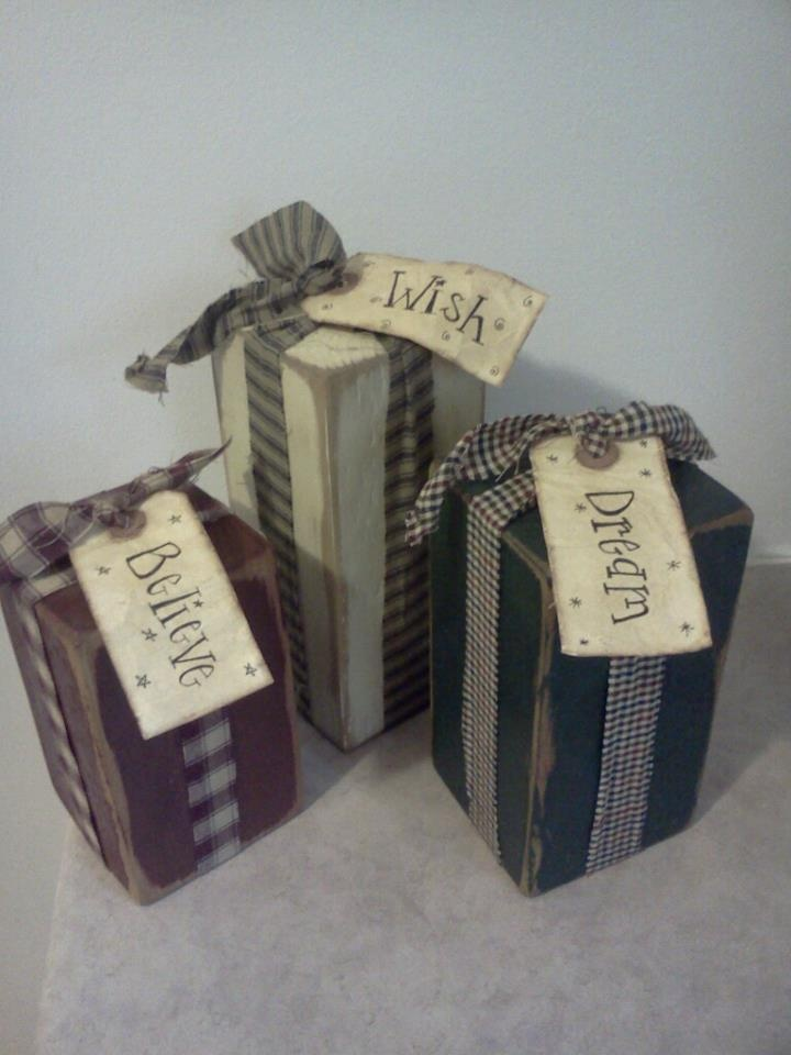 prim country gift wood - hubby is going to have to make these...