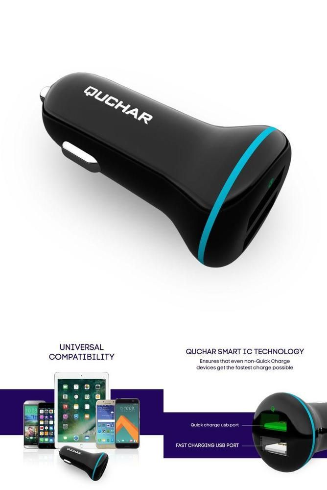 Dual Usb Smart Car Charger 5 4a With Quick Charge 3 0 For Iphone Samsung Nexus Quchar Dual Usb Charger Car Usb